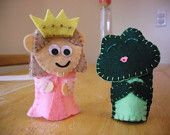 Princess & the Frog Finger Puppet Set