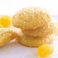Easy lemon sugar snaps...Need to make cookies fast? This recipe uses a lemon cake mix to save time.