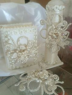 First Communion candle head Comb set de vela primera