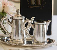 Antique Hotel de France Thionville 3 Piece Tea Set