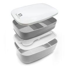 Bentgo - Bento Box / Lunchbox inkl. Besteck (Grau): Amazon.de: Küche & Haushalt