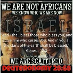 The only group of people to be sent off in ships and scattered. Also, only group of people to always be enslaved and punishment for not obeying YAH! It's in you KJV Bible! We Are The World, In This World, Black Hebrew Israelites, 12 Tribes Of Israel, Tribe Of Judah, Black History Facts, Bible Truth, Know The Truth, Torah