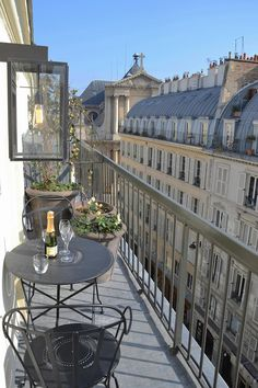 This Balcony in Paris is small...but, oh so cute! Very good use of a small space