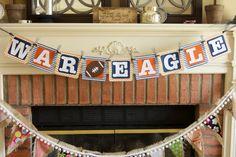 Auburn University War Eagle Banner- Free Shipping