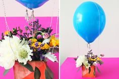 Hot Air Balloon Centerpiece | 7 Ways to Decorate Balloons