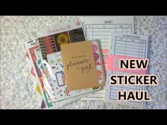 Planner Sticker Haul - Clicky Chick Creates Sew Much Crafting and Statio...