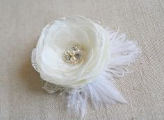 Hey, I found this really awesome Etsy listing at https://www.etsy.com/listing/193799406/bridal-hair-accessory-wedding-flower