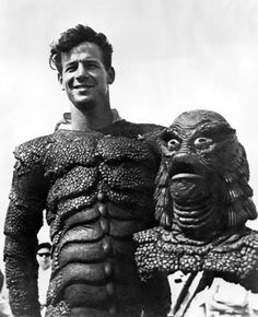 The underwater swimmer guy from Creature From The Black Lagoon. There were two men that played The Gill Man. One for land, one in the water.