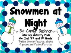 Everything you need for a picture book study on Snowmen at Night by Caralyn Buehner! There are many ways that you can use these resources. You can copy as an entire packet or you can copy pages individually! This can be for a small book club, or for the whole class!