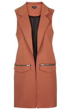 Raw Edge Sleeveless Vest - under $100 #spring2016
