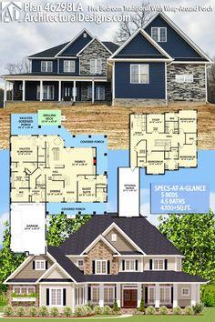 334 best 5 bedroom house plans images in 2019 floor plans house rh pinterest com