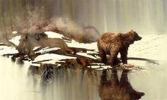 "Watercolor, Morten Solberg ""Bad water bear"""