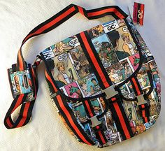 LeSportsac OC Comix Catcher Cartoon Print Messenger Bag Indie Comics Retro | Need to sell if anyone is interested BNWT