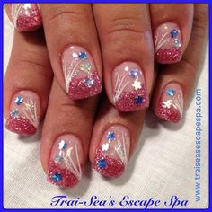 Pink Sparkles by TraiSeasEscape - Nail Art Gallery nailartgallery.nailsmag.com by Nails Magazine www.nailsmag.com #nailart