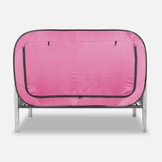 Privacy Pop Bed Tent Twin XL PINK * Visit the image link more details. (This is an affiliate link and I receive a commission for the sales) Bed Tent Twin, Floor Bed Frame, Van Conversion Interior, Futon Bed, Bunk Bed, Loft Interiors, Bed Springs, Types Of Beds, Girl Bedroom Designs