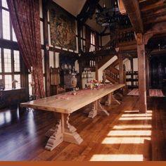 The Grand Hall in Tudor style mansion, Richmond, Virginia - The ...