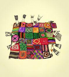 macarena gomez.  vestida de domingo Crochet Humor, Knit Or Crochet, Crochet Granny, Crochet Crafts, Fb Page, Knitting Projects, Cute Pictures, Book Art, Arts And Crafts