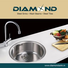 Your kitchen is incomplete without a Diamond Sink so get one soon! Explore the complete range @ www.diamondsink.in #SteelSink #DiamondSink #SteelKitchenSink #Sink #Kitchen #KitchenSinks