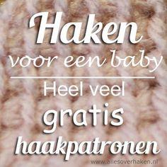 Free crochet patterns for babies in Dutch Gratis haakpatronen baby Love Crochet, Learn To Crochet, Crochet For Kids, Diy Crochet, Crochet Toys, Baby Patterns, Crochet Patterns, Knitting Patterns, Cute Baby Clothes