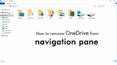 Learn how to hide onedrive option from navigation pane in windows Youtube online learning windows hd video tutorial. super awesome and amazing video. cool windows tips and tricks