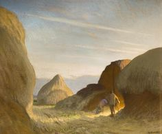 Sir George Clausen (1852-1944) - Rickyard, Morning, 1923