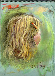 """Artist's Wife 2007"" Robert C. Tracy Pastel 12 x 9"" 2007"
