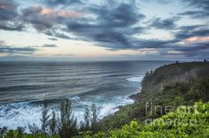 Sunrise Along The Cliffs - Princeville - Kauai - Hawaii by Belinda Greb #landscape