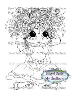 "You can adopt this ""Bestie"" :-)******Have fun crafting******This is for the black and white line art digi stamp only.You may use the images to create and sell handmade/colored cards and projects; please give credit to *Sherri Baldy* for the image used in the project or product. ****What I ask: Please do not *redistribute*, *share*, *duplicate*, *re-sell*, or *copy* any of my digi doodle stamp images.********Please do not post them online except as part of a project (i.e., card, scrapbook…"