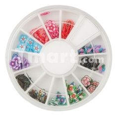 12 Colors Fimo Slice Plum Blossom Nail Art Decoration,$2.16 Very cute