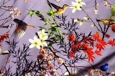 KN18 14820-815 Tricot Japanese birds lila