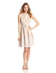 Jones New York Women's Sleeveless Mixed Print Dress, Taupe/White, 10 Jones New York,http://www.amazon.com/dp/B00BG4M8K4/ref=cm_sw_r_pi_dp_5t3Zrb1JESEPCBEF