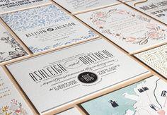 Invitaciones de boda modernas con termograbado: relieve y mucha elegancia en colores pastel!