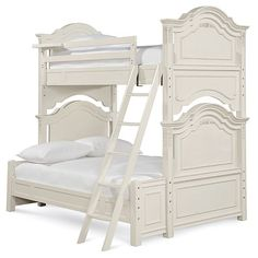 Emilia Twin Over Full Bunk Bed in Lace from PoshTots #PTRoyalBaby