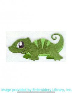 Stickmotiv Stickbild Aufnäher Stickerei Emblem Echsen  Echsen /  Stickerei Pet Lizard (E6219)