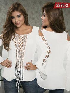Blusa Moda Colombiana Thaxx - Ref. 119 -3325-2 Beige