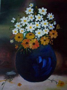 Flores, pintura al oleo, de Sheyla Ramos
