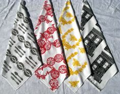 Hand Screen Printed Kitchen Towels