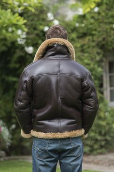 Mens authentic sheepskin flying jacket, WWII RAF style, made using British tanned skins, sheepskin flying helmets and driving goggles to match. Made in UK by British Sheepskin Co