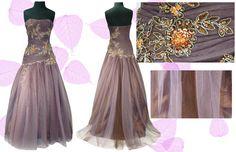 Somptueuse robe de soirée bustier style princesse