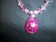 Pink Heather Necklace Available on Etsy and Artfire