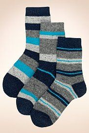 3 Pairs of Wool Blend Flecked Thermal Sports Socks