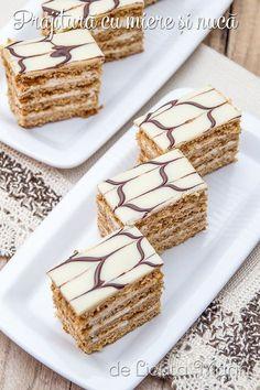 Romanian Desserts, Honey Cake, Food Cakes, Disney Food, Food Videos, Cake Recipes, Caramel, Sweet Treats, Deserts