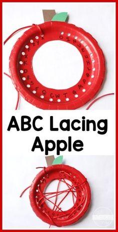 FUN Alphabet Apple Lacing Craft