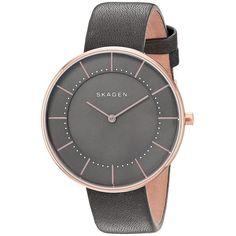 Skagen Women's SKW2613 'Gitte' Watch avec bracelet cuir gris