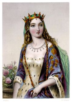 Margaret of Anjou. The source for this engraving is Biographical Sketches of the Queens of Great Britain, from the Norman Conquest to the Reign of Victoria, or Royal Book of Beauty, edited by Mary Howitt, Henry G Bohn, London, 1851.