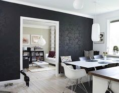 9 Black Wallpaper Accent Wall Ideas Wallpaper Accent Wall Black Wallpaper Accent Wall