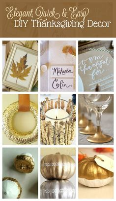 12 Elegant and Easy DIY Projects for a Beautiful Thanksgiving…