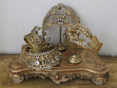 French crowns which go on the top of religious statues.