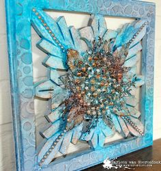 Altered wooden panel made by Marleen van Meerendonk. | Art Anthology
