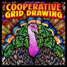 My cooperative posters now feature two versions of the project for a single purchase. This item features a Thanksgiving greeting.Coop Coloring Grids provide pre-printed tiles to be colored in your choice of media and assembled into a large final design.